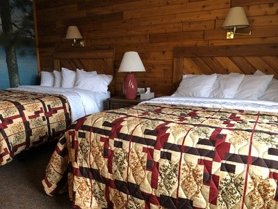 Two Queen Beds Motel Room