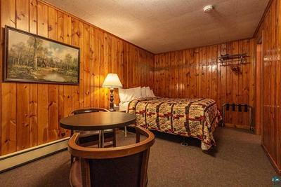 One Queen Bed Motel Room